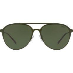 Polo Ralph Lauren - Okulary PH3115. Szare okulary przeciwsłoneczne męskie Polo Ralph Lauren, z materiału. Za 549.90 zł.