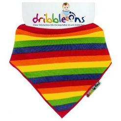 Xkko Śliniaczek Dribble Ons Rainbow. Żółte śliniaki dla dzieci Xkko, z bawełny. Za 32.00 zł.