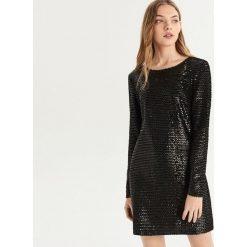 Sukienka z cekinami - Czarny. Czarne sukienki damskie Sinsay. Za 129.99 zł.