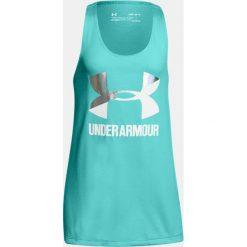 Under Armour Koszulka damska UA Big Logo Slash Tank turkusowa r. L (1301883-425). T-shirty damskie Under Armour. Za 44.43 zł.