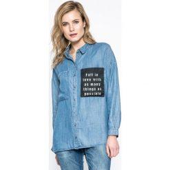 Only - Koszula. Szare koszule damskie Only, z jeansu, casualowe, z długim rękawem. W wyprzedaży za 69.90 zł.