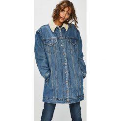 Levi's - Kurtka jeansowa. Brązowe kurtki damskie Levi's, z bawełny. Za 499.90 zł.