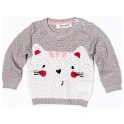 Minoti Dziewczęcy Sweter Z Kotem 68 - 74 Szary. Szare swetry dla dziewczynek Minoti. Za 75.00 zł.