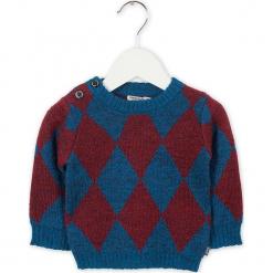 Sweter w kolorze niebiesko-czerwonym. Swetry dla chłopców marki Reserved. W wyprzedaży za 95.95 zł.