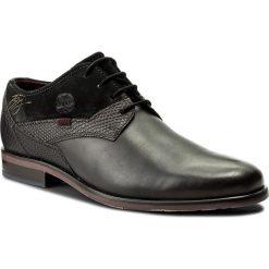 Półbuty BUGATTI - 311-16304-2514-1110 Dark Grey/Black. Eleganckie półbuty Bugatti, z materiału. W wyprzedaży za 279.00 zł.