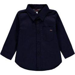 Koszula w kolorze granatowym. Koszule dla chłopców marki bonprix. W wyprzedaży za 37.95 zł.