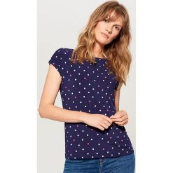 Koszulka basic - Niebieski. Niebieskie bluzki damskie Mohito. Za 49.99 zł.