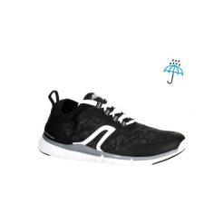 Buty męskie do szybkiego marszu PW 580 RespiDry czarne. Czarne buty sportowe męskie NEWFEEL, z gumy. Za 149.99 zł.