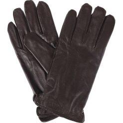 Rękawiczki Brązowe. Brązowe rękawiczki męskie LANCERTO, w paski, ze skóry. Za 129.90 zł.