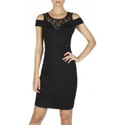 Guess Sukienka Damska S Czarny. Czarne sukienki damskie Guess, z aplikacjami. W wyprzedaży za 309.00 zł.