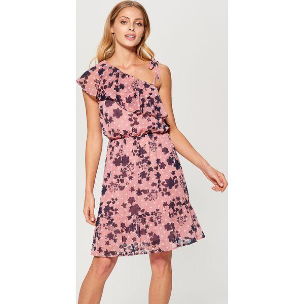 0e065d36 Sukienka z kreszowanego szyfonu - Wielobarwn