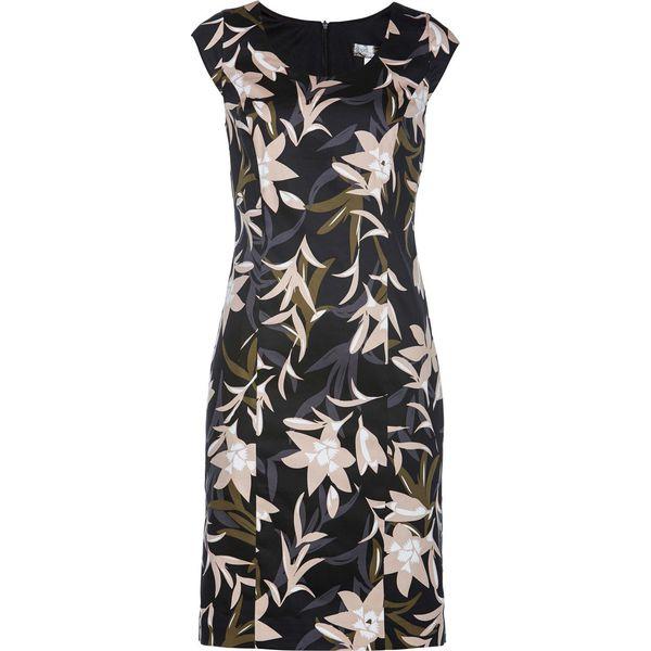 5cf373fbf6 Sukienka ołówkowa bonprix zielony khaki z nadrukiem - Sukienki ...
