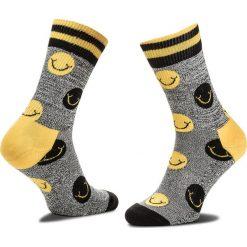Skarpety Wysokie Unisex HAPPY SOCKS - ATSMI27-9000 Kolorowy Szary. Szare skarpety męskie Happy Socks, w kolorowe wzory, z bawełny. Za 47.90 zł.