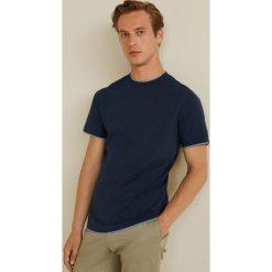 Mango Man - T-shirt Gare3. Brązowe bluzki z długim rękawem męskie Mango Man, z bawełny, z okrągłym kołnierzem. Za 59.90 zł.