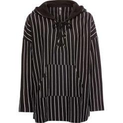 Bluza z kapturem i sznurowaniem bonprix czarny w paski. Bluzy damskie marki MAKE ME BIO. Za 109.99 zł.