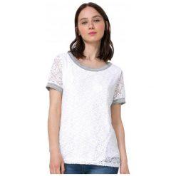 Desigual T-Shirt Damski Escote Barco L Biały. Białe t-shirty damskie Desigual. W wyprzedaży za 159.00 zł.