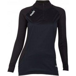 Swix Koszulka Damska Wind. Racex Czarny M. Czarne koszulki sportowe damskie Swix, z długim rękawem. Za 265.00 zł.