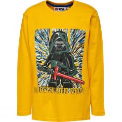 Koszulka w kolorze żółtym. Zielone t-shirty dla chłopców marki Lego Wear Fashion, z bawełny, z długim rękawem. W wyprzedaży za 35.95 zł.
