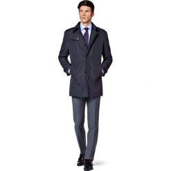 Płaszcz Granatowy Brestia. Niebieskie płaszcze męskie LANCERTO, biznesowe. W wyprzedaży za 559.90 zł.