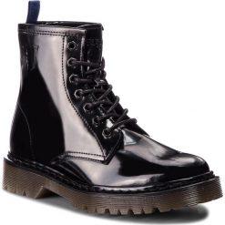 Trapery TRUSSARDI JEANS - 79A00276 K299. Czarne śniegowce i trapery damskie TRUSSARDI JEANS, z jeansu. W wyprzedaży za 569.00 zł.