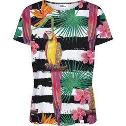 Colour Pleasure Koszulka damska CP-030 188 biało-czarna r. XXXL/XXXXL. T-shirty damskie Colour Pleasure. Za 70.35 zł.