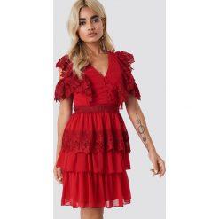 25739cda2b Trendyol Koronkowa sukienka mini - Red. Czerwone sukienki damskie marki  Trendyol