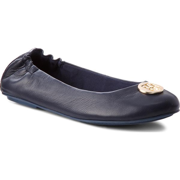 b953d4d525f44 Baleriny TOMMY HILFIGER - Flexible Ballerina Leather FW0FW03401 ...