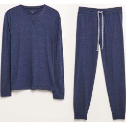 Piżama dwuczęściowa ze spodniami - Niebieski. Niebieskie piżamy męskie Reserved. Za 99.99 zł.