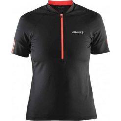 Craft Koszulka Rowerowa Velo W Black M. Czarne koszulki sportowe damskie Craft, z materiału, z dekoltem na plecach, z krótkim rękawem. W wyprzedaży za 141.00 zł.
