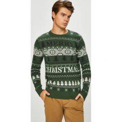 Produkt by Jack & Jones - Sweter. Szare swetry przez głowę męskie PRODUKT by Jack & Jones, z bawełny, z okrągłym kołnierzem. W wyprzedaży za 99.90 zł.