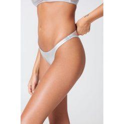 NA-KD Swimwear Dół bikini Metallic - Silver. Szare bikini damskie NA-KD Swimwear. W wyprzedaży za 21.89 zł.
