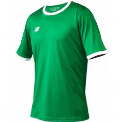 Koszulka treningowa - EMT6112JGN. Zielone koszulki sportowe męskie New Balance, na jesień, z materiału. Za 89.99 zł.