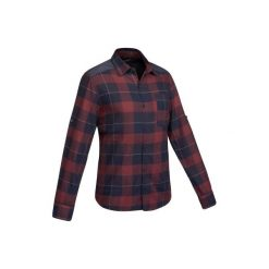 Koszula trekkingowa TRAVEL 100 warm męska. Niebieskie koszule męskie QUECHUA, z długim rękawem. Za 79.99 zł.