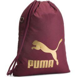 Plecak PUMA - Originals Gym Sack 074812 11 Fig/Gold. Czerwone plecaki damskie Puma, z materiału, sportowe. Za 79.00 zł.