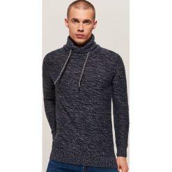 Melanżowy sweter - Granatowy. Niebieskie swetry przez głowę męskie House. Za 99.99 zł.