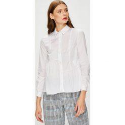 Trussardi Jeans - Koszula. Szare koszule damskie TRUSSARDI JEANS, z bawełny, casualowe, z klasycznym kołnierzykiem, z długim rękawem. W wyprzedaży za 349.90 zł.