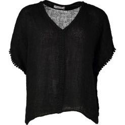 Lniana koszulka w kolorze czarnym. T-shirty damskie William de Faye, klasyczne, z krótkim rękawem. W wyprzedaży za 86.95 zł.