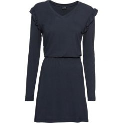 Sukienka shirtowa bonprix ciemnoniebieski. Niebieskie sukienki damskie bonprix, z dżerseju. Za 49.99 zł.