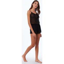Etam - Kombinezon piżamowy. Szare piżamy damskie Etam, z elastanu. W wyprzedaży za 119.90 zł.