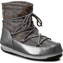 Śniegowce MOON BOOT - Low Lurex 24005600002 Grigio Argento. Szare śniegowce i trapery damskie Moon Boot, z materiału. W wyprzedaży za 589.00 zł.