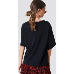 Rut&Circle T-shirt Trash - Black. Czarne t-shirty damskie Rut&Circle, z okrągłym kołnierzem. Za 72.95 zł.