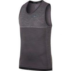 """Koszulka """"Medalist"""" w kolorze antracytowym do biegania. Bokserki męskie Nike Men, z materiału, z długim rękawem. W wyprzedaży za 152.95 zł."""