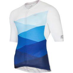 Koszulka rowerowa męska RKM152 - niebieski allover. Niebieskie koszulki sportowe męskie 4f, z elastanu. Za 159.99 zł.