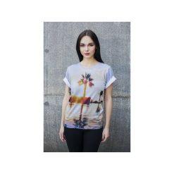 T-shirt The Palm. Szare t-shirty damskie Bahabay, z nadrukiem, z bawełny. Za 83.30 zł.