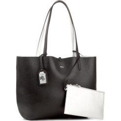 Torebka LAUREN RALPH LAUREN - Olivia 431595601028 Blk/Slv. Czarne torebki do ręki damskie Lauren Ralph Lauren, ze skóry ekologicznej. W wyprzedaży za 469.00 zł.