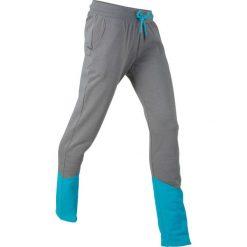 Spodnie dresowe, długie, z kolekcji Maite Kelly bonprix dymny szary - ciemnoturkusowy melanż. Szare spodnie dresowe damskie bonprix, melanż, z dresówki. Za 74.99 zł.