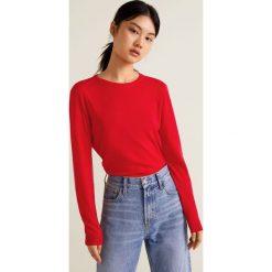 Mango - Sweter Lucca. Szare swetry damskie Mango, z bawełny, z okrągłym kołnierzem. Za 69.90 zł.