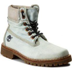 Trapery TIMBERLAND - Ltd Fabric 6 In Lt A1G83  Denim. Niebieskie śniegowce i trapery damskie Timberland, z denimu. W wyprzedaży za 439.00 zł.