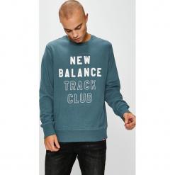 New Balance - Bluza. Szare bluzy męskie New Balance, z nadrukiem, z bawełny. W wyprzedaży za 199.90 zł.