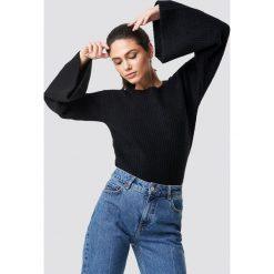 NA-KD Sweter z dużym rękawem - Black. Czarne swetry damskie NA-KD, z dzianiny. Za 141.95 zł.